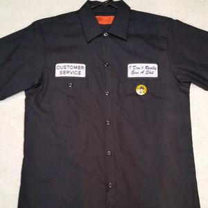 Halloween Funny Cust Service Blk Shirt Dickies - S